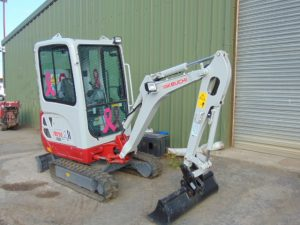 New Takeuchu TB-216 to be auctioned at Leeds in August to support Breast Cancer Care