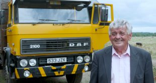 Irishman John Tarrent in front of his DAF 2100 which he purchased back in 1984 and which is still in operation.