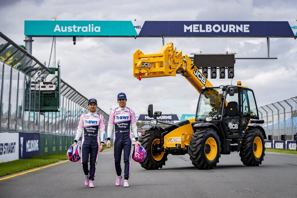 JCB LOADALLS LIMBER UP FOR AUSTRALIAN FORMULA ONE RACE - Machinery